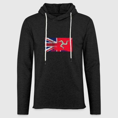 British Manxman Half Isle of Man Half UK Flag - Light Unisex Sweatshirt Hoodie