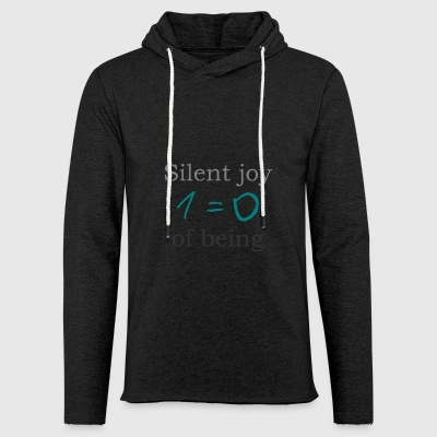 Silent joy of being 105 - Light Unisex Sweatshirt Hoodie