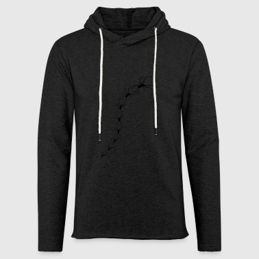 black spiders crawl gift idea gift - Light Unisex Sweatshirt Hoodie