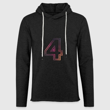 Number Allstars Alphabet 4 - Light Unisex Sweatshirt Hoodie