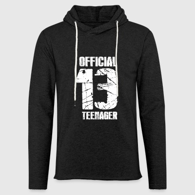 Official teenager 13th birthday gift - Light Unisex Sweatshirt Hoodie