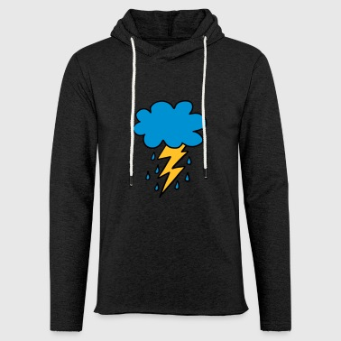 Cloud flash raindrop weather spring rain cloud - Light Unisex Sweatshirt Hoodie