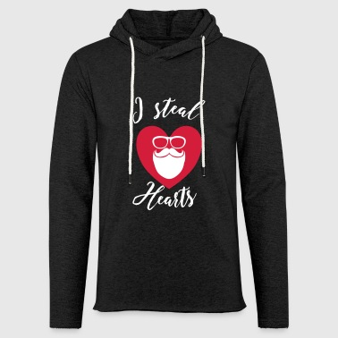 I steal Hearts - Hipster - Light Unisex Sweatshirt Hoodie