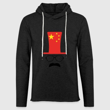 Chine le football drapeau chinois Hipster - Sweat-shirt à capuche léger unisexe