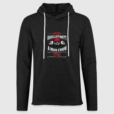 never underestimate man SYRIA - Light Unisex Sweatshirt Hoodie