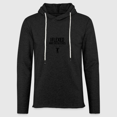 I flexed and the sleeves melted - Light Unisex Sweatshirt Hoodie