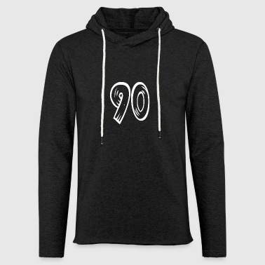 Number 90 Ninety Ninety wood optic HATRIK DESIGN - Light Unisex Sweatshirt Hoodie
