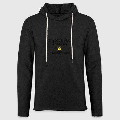 The sky is not the limit - Light Unisex Sweatshirt Hoodie