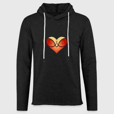 Heart-shaped Woman's Breasts With Deep Cleavage - Light Unisex Sweatshirt Hoodie