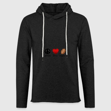 Peace Love Rugby - Light Unisex Sweatshirt Hoodie