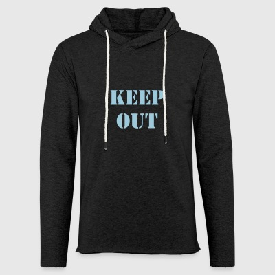 keep out - Sweat-shirt à capuche léger unisexe