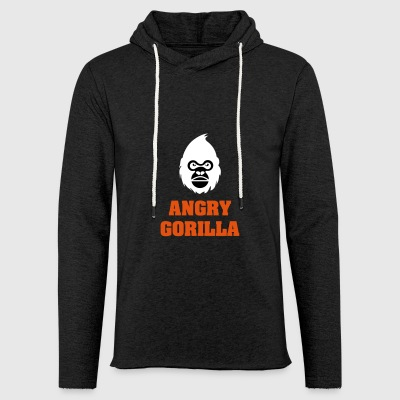 angry_gorilla_white - Light Unisex Sweatshirt Hoodie