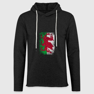 Wales Flag Proud Welsh Vintage Distressed Shirt - Light Unisex Sweatshirt Hoodie
