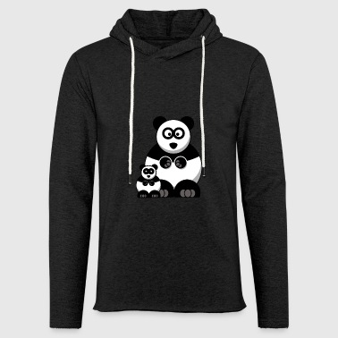 Mama Panda and Baby Panda - Light Unisex Sweatshirt Hoodie