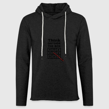 THINK OUTSIDE THE BOX - Light Unisex Sweatshirt Hoodie