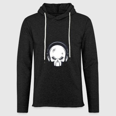 Punk rock skull - Light Unisex Sweatshirt Hoodie