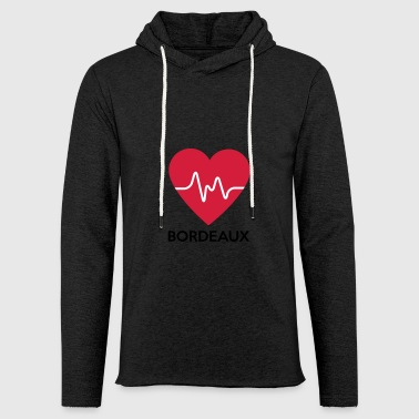 heart Bordeaux - Light Unisex Sweatshirt Hoodie