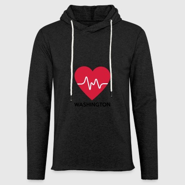 heart Washington - Light Unisex Sweatshirt Hoodie