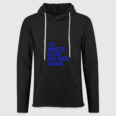 to write love on her arms blau - Leichtes Kapuzensweatshirt Unisex