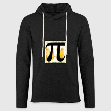 With the beer Hochgenuss! - Light Unisex Sweatshirt Hoodie
