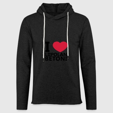 I Love Liipola Concrete - Light Unisex Sweatshirt Hoodie