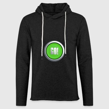Go Button - Light Unisex Sweatshirt Hoodie