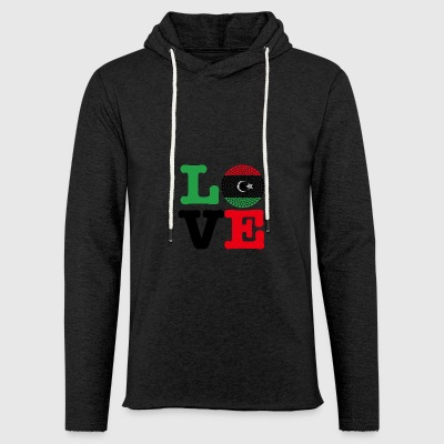 LIBYA HEART - Light Unisex Sweatshirt Hoodie