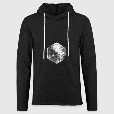 Hexagon · Shapes · Signs · Symbols · Grunge - Light Unisex Sweatshirt Hoodie