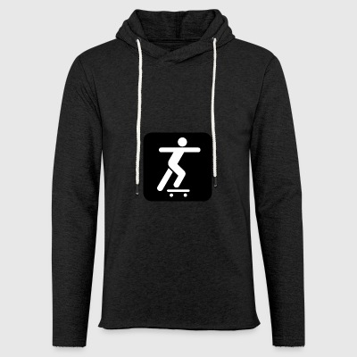 Skateboard logo - Light Unisex Sweatshirt Hoodie