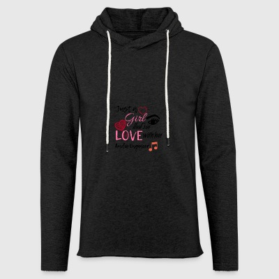Just a girl that's in love with her Audio Engineer - Leichtes Kapuzensweatshirt Unisex
