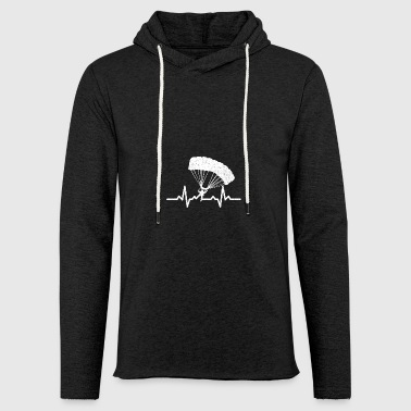 My heart beats for parachuting - Light Unisex Sweatshirt Hoodie