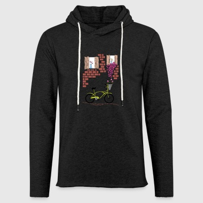 village with bicycle - Light Unisex Sweatshirt Hoodie
