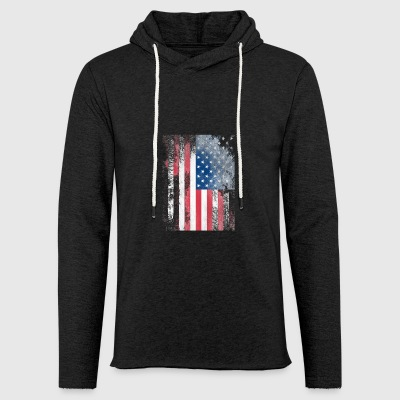 1979 USA FLAG - Let sweatshirt med hætte, unisex