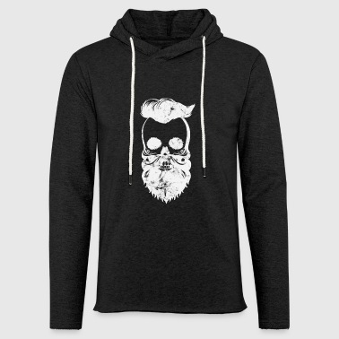 washed-out skull - Light Unisex Sweatshirt Hoodie