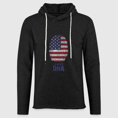 USA Flag - America - Made in USA - regalo - Felpa con cappuccio leggera unisex