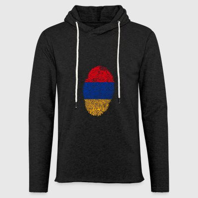 ARMENIA FINGERPRINT. CAUCASUS ARMENIAN - Light Unisex Sweatshirt Hoodie