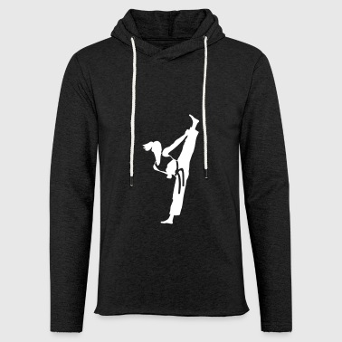 Female martial artist - Light Unisex Sweatshirt Hoodie