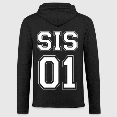 SIS 01 - White Edition - Sweat-shirt à capuche léger unisexe