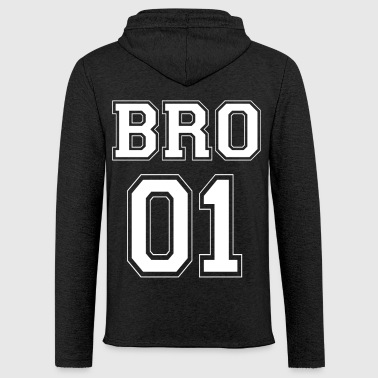 BRO 01 - White Edition - Light Unisex Sweatshirt Hoodie