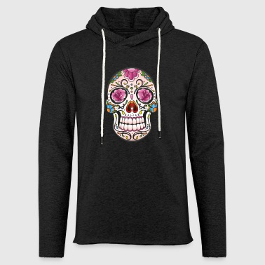 Mexican Sugar Skull, day of the dead - Light Unisex Sweatshirt Hoodie