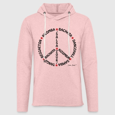 Peace and love Noir - Sweat-shirt à capuche léger unisexe
