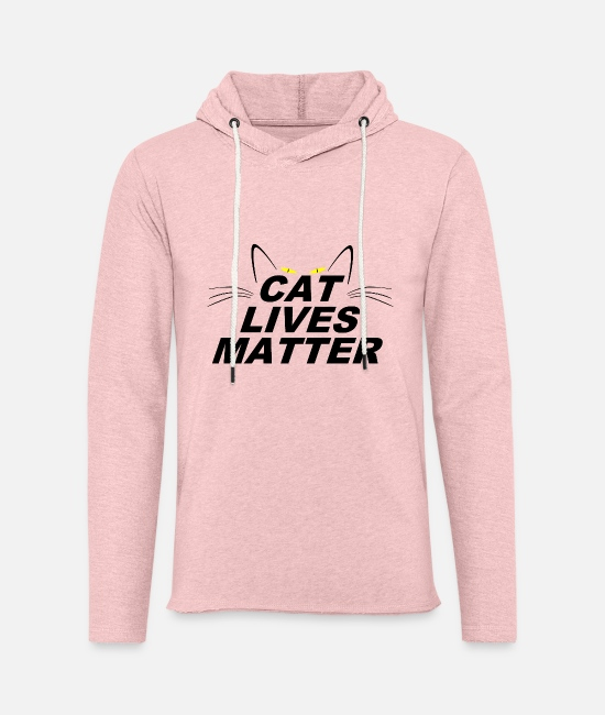 Grumpy Lives Matter Hoodies & Sweatshirts - CAT LIVES MATTER - Unisex Sweatshirt Hoodie cream heather pink