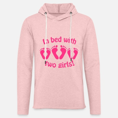 Two In bed with two girls - Unisex Sweatshirt Hoodie