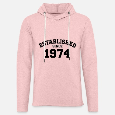 Established Established 1974 - Lett unisex hettegenser