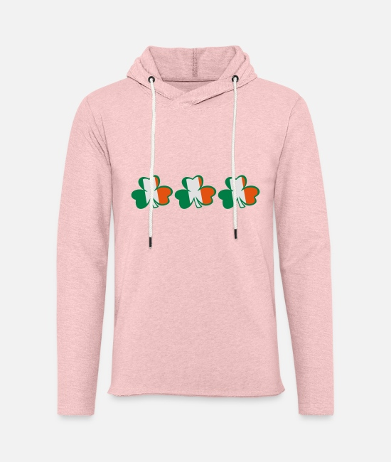 Best Awesome Superb Cool Amazing Identity Ethnicity Race People Language Country Design Hoodies & Sweatshirts - ♥ټ☘Kiss the Irish Shamrocks to Get Lucky☘ټ♥ - Unisex Sweatshirt Hoodie cream heather pink