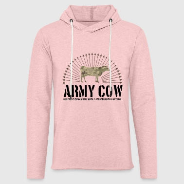 Army cow - Light Unisex Sweatshirt Hoodie