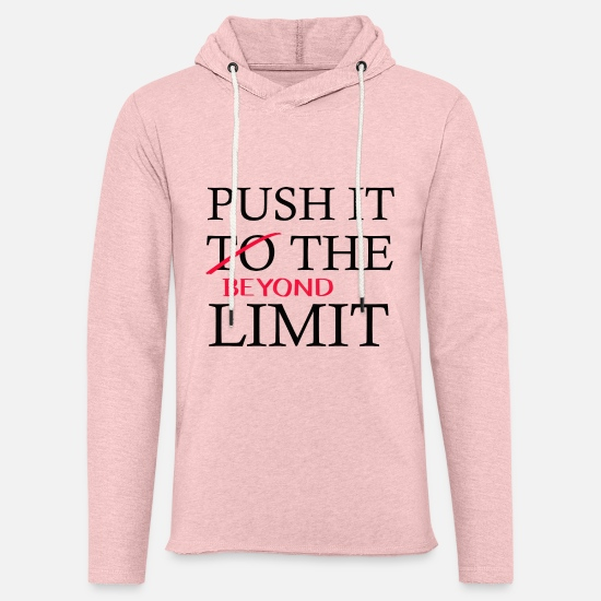 Ziel Hoodies & Sweatshirts - Push It Beyond the Limit black - Unisex Sweatshirt Hoodie cream heather pink