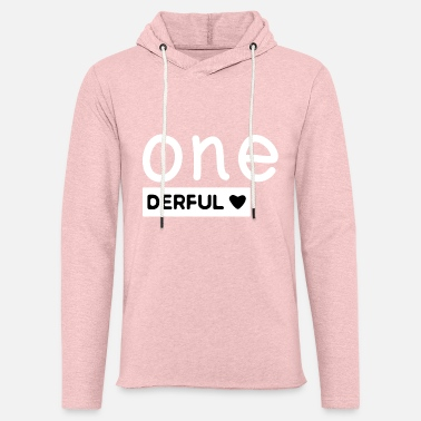 1st Birthday 1st birthday baby children one - one derful - Unisex Sweatshirt Hoodie