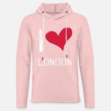 I Love London I love London - Sweat-shirt à capuche léger unisexe