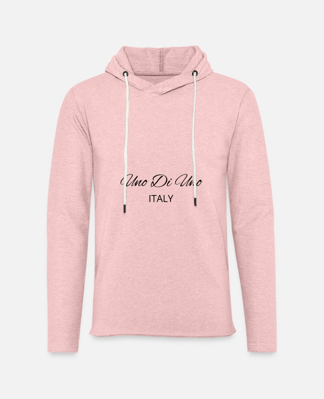 Premier Hoodies & Sweatshirts - Uno Di Uno simple cotton t-shirt - Unisex Sweatshirt Hoodie cream heather pink